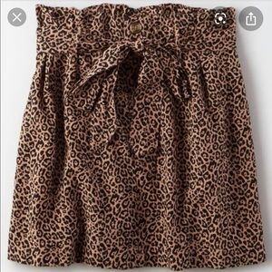 American Eagle Cheetah Print Skirt